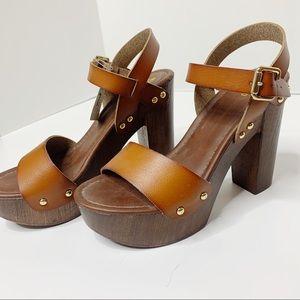 NWT Mossimo clog studded heel sandals 7.5 M